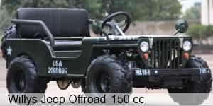 Kinderjeep Willys Jeep 150cc mit Benzinmotor (Offroad-Version)